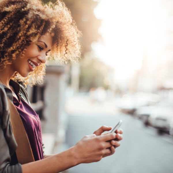 Woman with a mobile phone